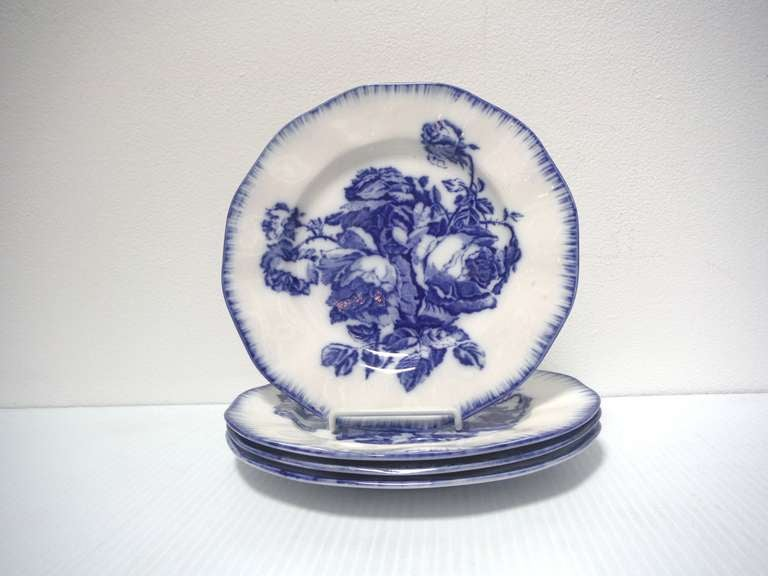 Flow Blue Ironstone Plates For Sale At 1stdibs