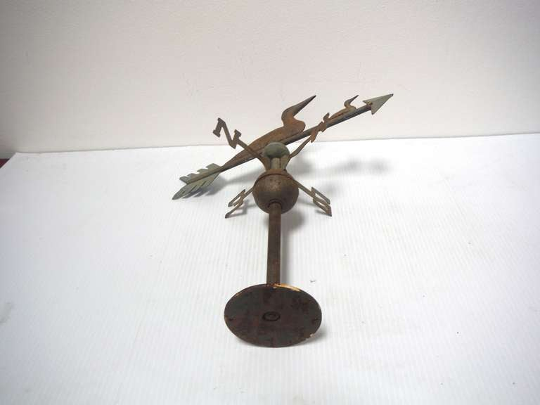 Amazing Ducks Tabletop Weathervane In Original Surface For Sale 1