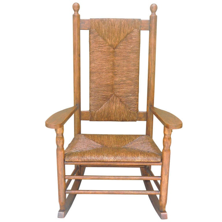 Rustic Porch Rocking Chair From The Adrondacks At 1stdibs