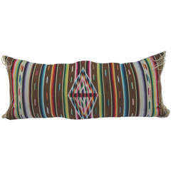 Early Mexican Serape Bolster Pillow