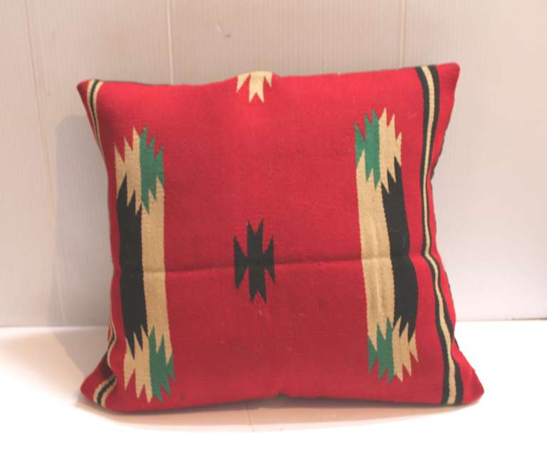 American Early  Germantown Navajo Weaving Pillow For Sale