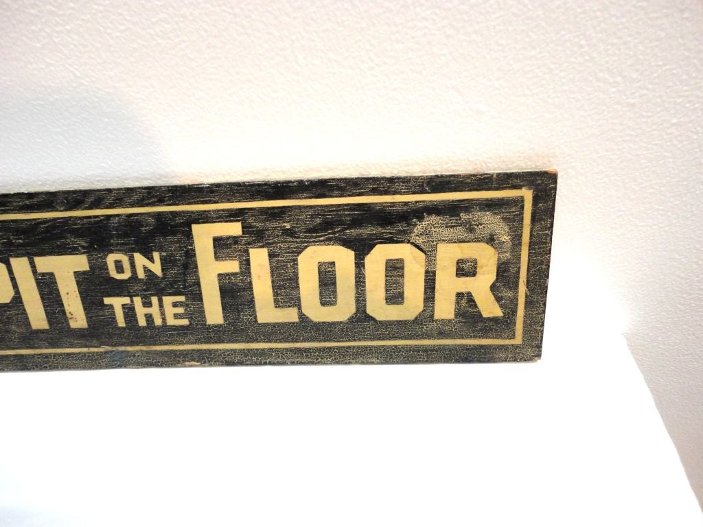 Great Sign In Original Surface At 1stdibs