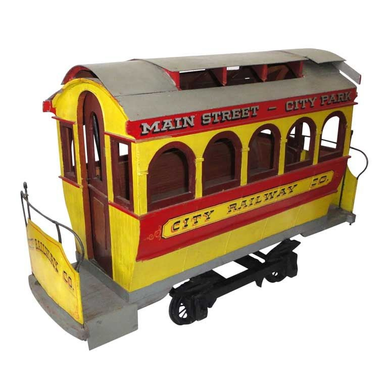 Folky and Fantastic Early 20th Century Original Painted Trolley Car