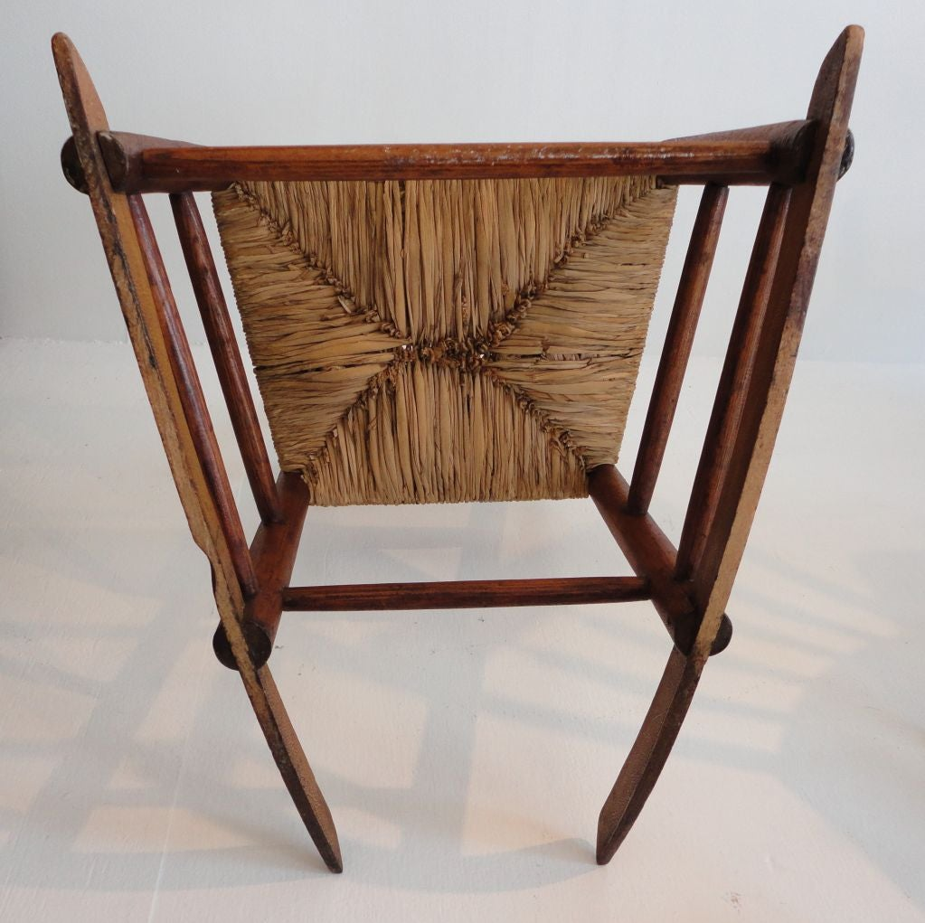 Early 19thc Original Old Surface N.e. Ladderback Rocking Chair image 7