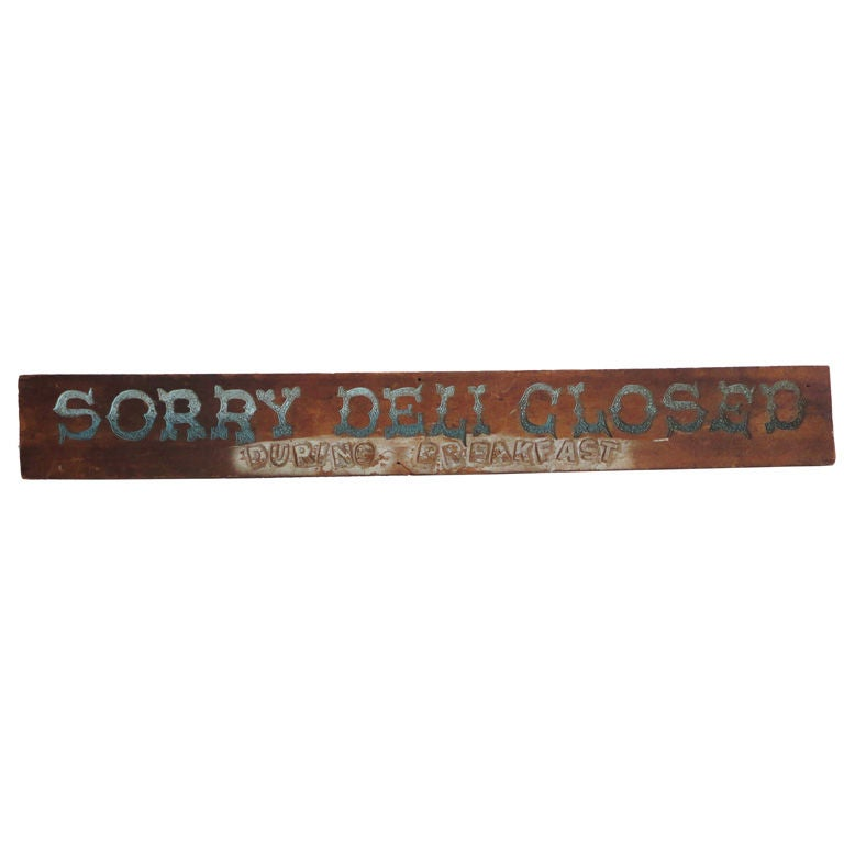 Folky Original Painted Trade Sign, Early 20th Century