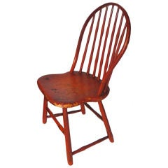 Fantastic 19th Century Original Bittersweet Painted New England Windsor Chair