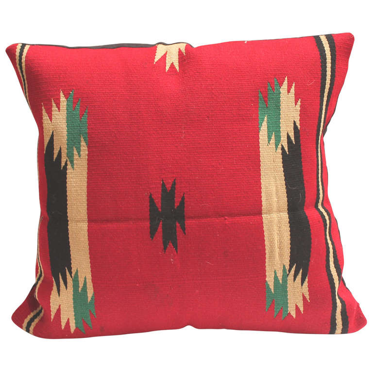 Early  Germantown Navajo Weaving Pillow For Sale