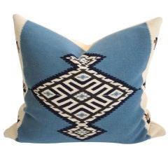 Fantastic Texcoco Indian Weaving Lg.pillow W/blanket Backing