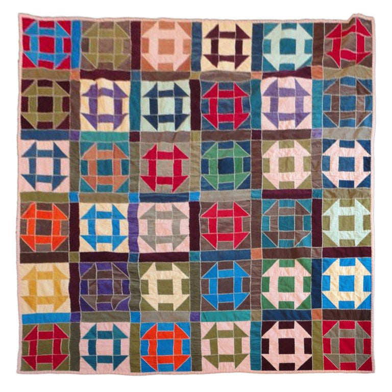 Fantastic 1940's  Amish Hole In The Barn Door Pattern Quilt image 2