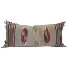Grey Ground Mexican Serape Bolster Pillow