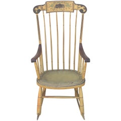 19th Century Fancy Original Painted Rocking Chair from New England