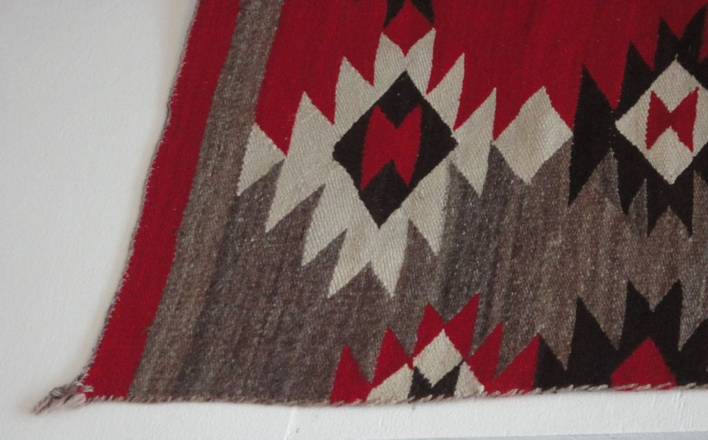 Rare Large Navajo Transitional Rug Great Colors At 1stdibs