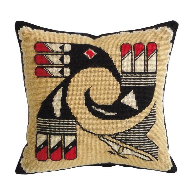 Fantastic Small Rare Zuni Indian Weaving Pillow At 1Stdibs-2817