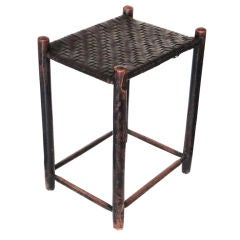 19th Century Weaver's Stool from New England in Original Old Surface