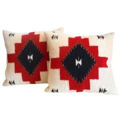 Pair of Navajo Indian Weaving Pillows