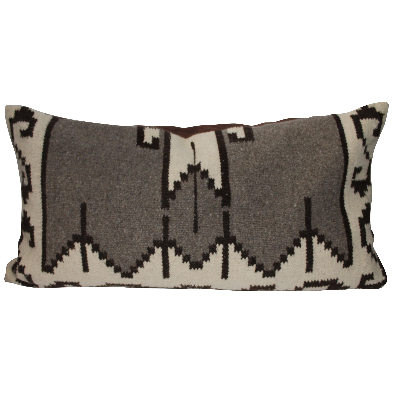 Mexican Indian Weaving Geometric Bolster Pillow