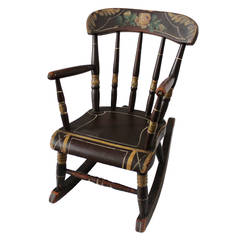 19th Century York County Pennsylvania, Original Painted Child's Rocking Chair