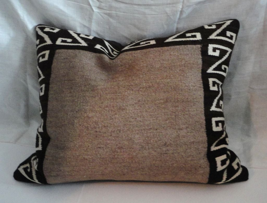 Large Navajo Weaving Bolster Pillow at 1stdibs