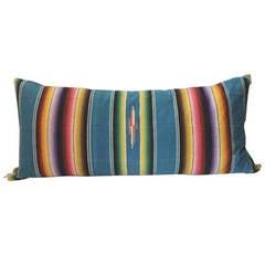 Large Mexican, Serape Bolster Pillow