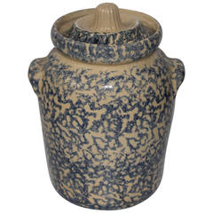 20th Century Ransbottom Spongeware Cookie Jar