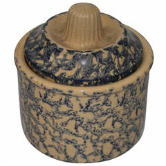 Early 20th Century Spongeware Jar