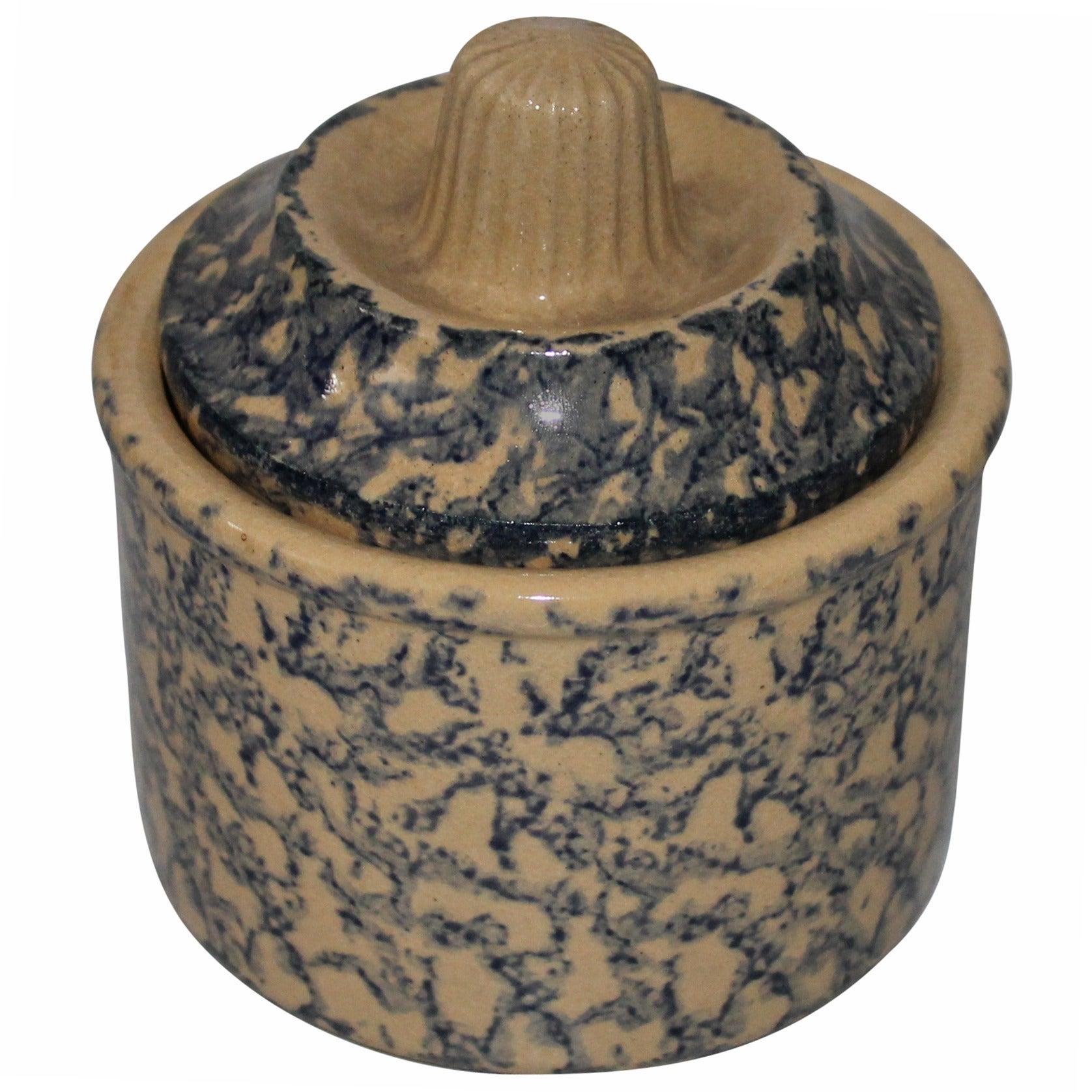 Early 20th Century Spongeware Jar