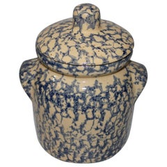 Early 20th Century Spongeware Canister Jar