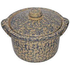 Early 20th Century Spongeware Casserole Dish