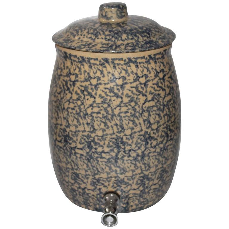 20th Century Ransbottom Spongeware Water Cooler For Sale