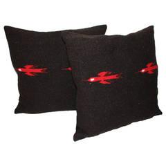 Mexican Indian Weaving Birds in Flight Pillows