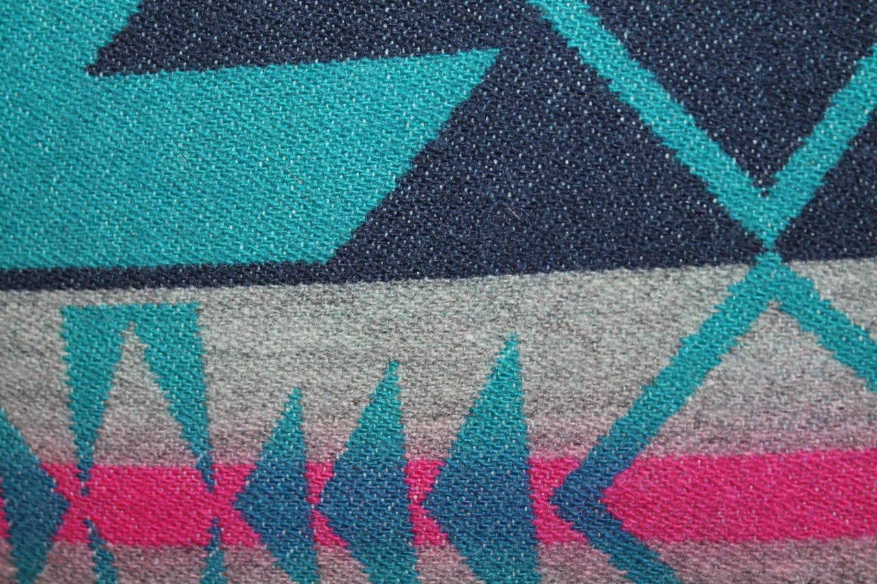 Adirondack Pair of Amazing Cayuse Pendleton Indian Blanket Pillows For Sale