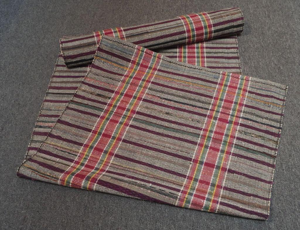 amish rag rug runner great colors16 feet long 3