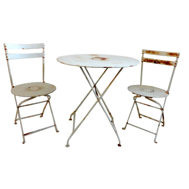 early 20thc french bistro table and chairs set at 1stdibs