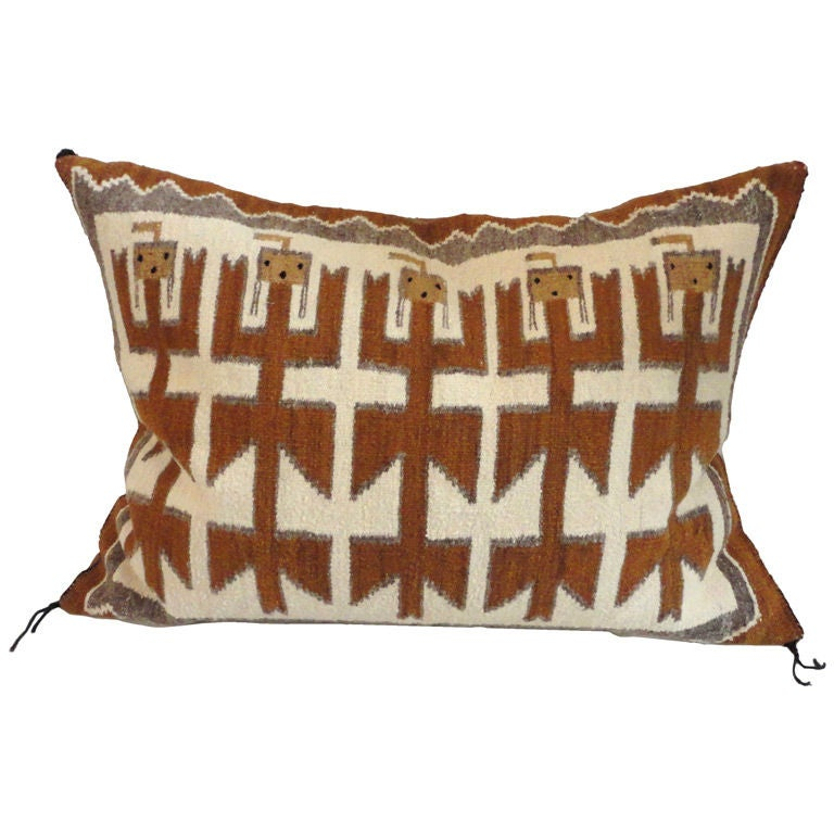 Large Decorative Bolster Pillows : Fantastic Large Yea Indian Weaving Bolster Pillow at 1stdibs