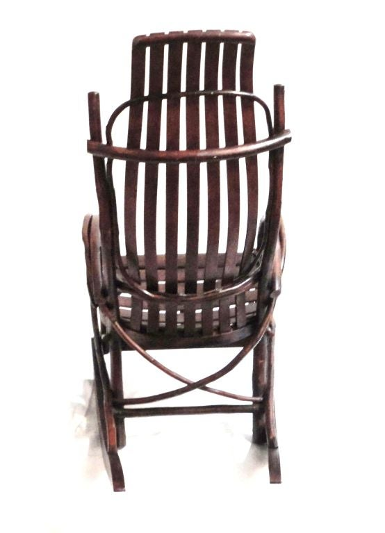 Early 20thc Amish Childs Bentwood Rocking Chair
