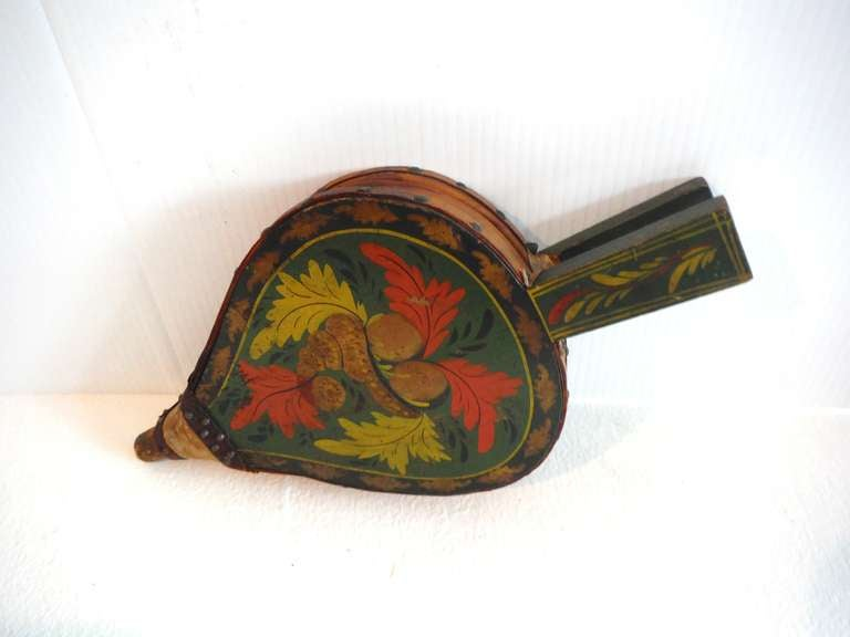 Fantastic 19th Century Paint Decorated New England Bellows 3