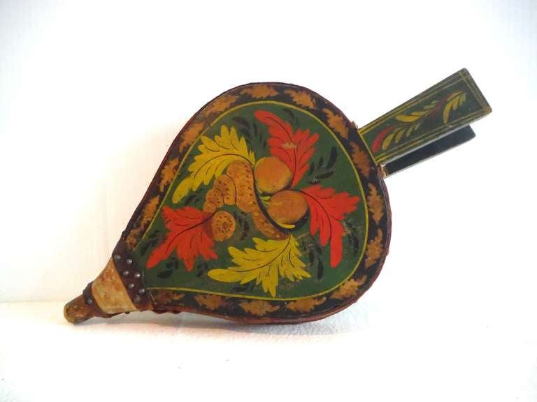 Fantastic 19th Century Paint Decorated New England Bellows 2