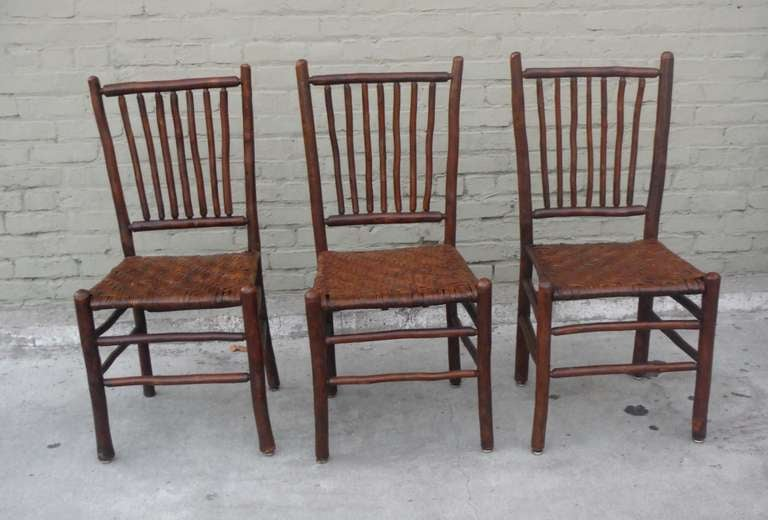 Set Of Six Signed Old Hickory Rustic Chairs At 1stdibs