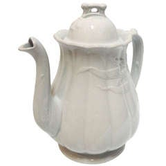 Early English W & E Corn Ironstone Coffee Pot Wheat