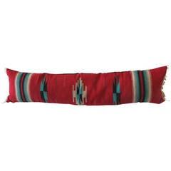 Large Handwoven, Mexican Serape Bolster Pillow