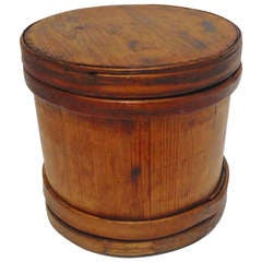 19thc Early Large New England  Pantry Box W/ Lid