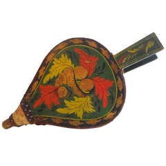Fantastic 19th Century Paint Decorated New England Bellows