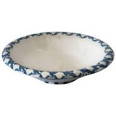 Large 19th Century Spongeware Serving Bowl