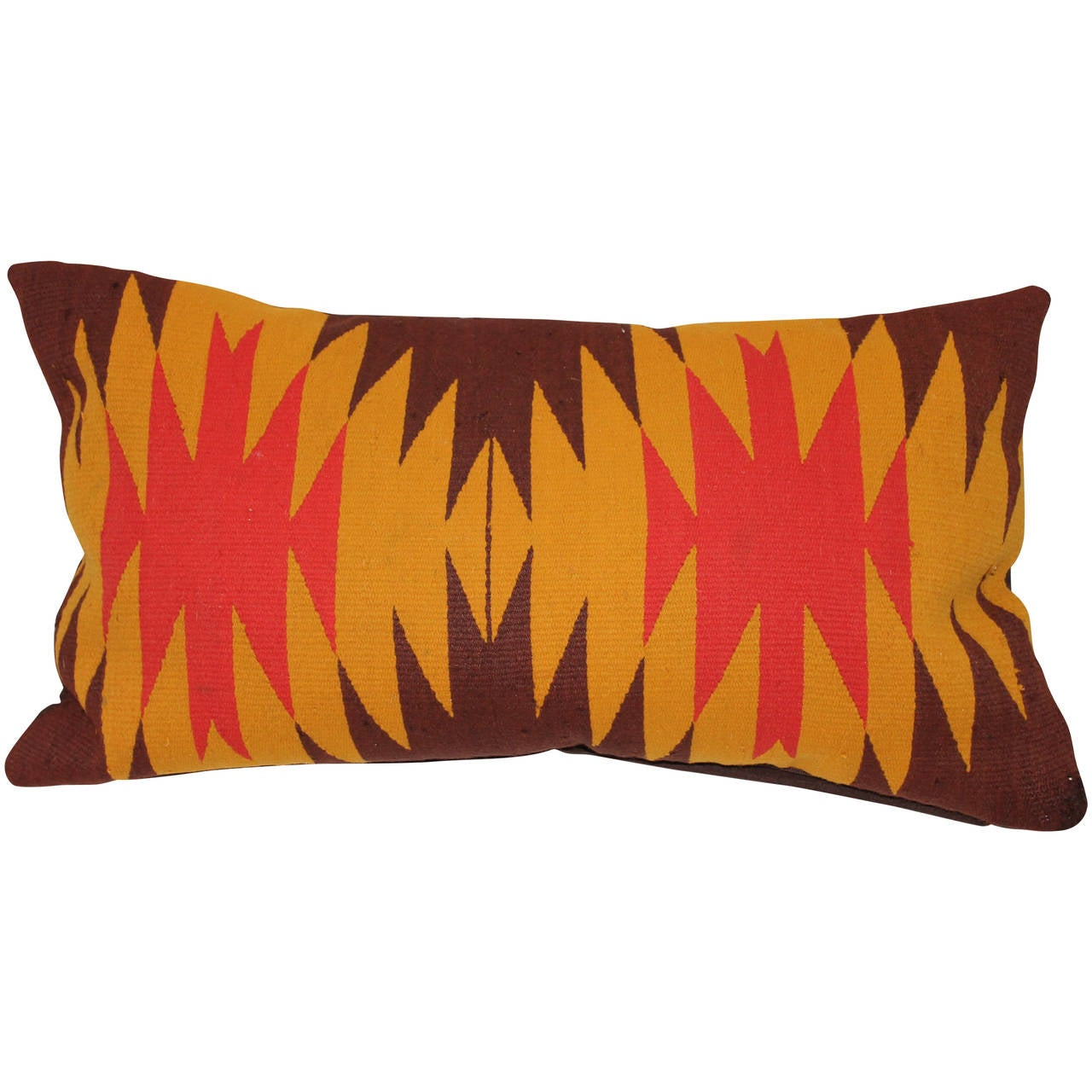 Navajo Indian Weaving Fibrant Bolster Pillow At 1stdibs