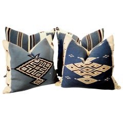 Texcoco Indian Weaving Pillows With Blanket Backing