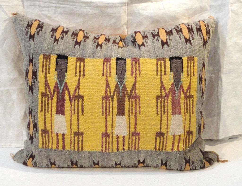 Fantastic Navajo/Yea Indian Weaving Pillow 2