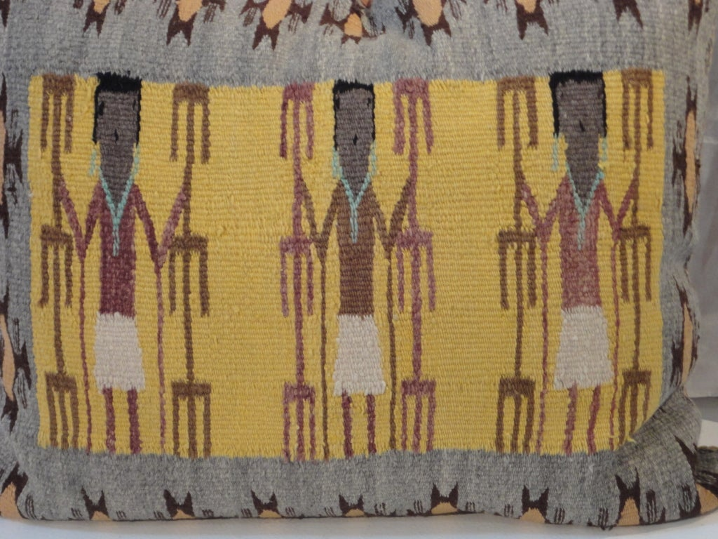 Fantastic Navajo/Yea Indian Weaving Pillow 3