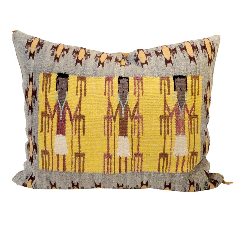 Fantastic Navajo/Yea Indian Weaving Pillow 1