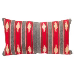 Navajo Indian Weaving Striped Pillow