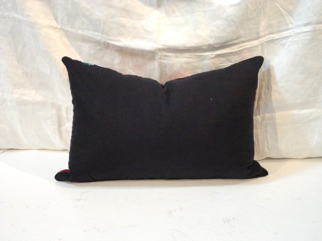 Wool Fantastic Hand Woven Mexican Indian Sarape Pillows For Sale